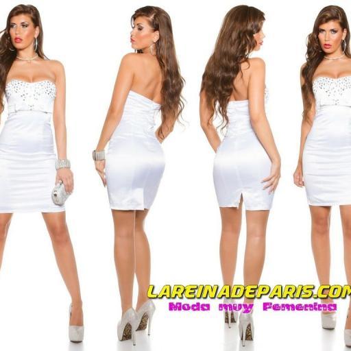 Espectacular vestido de cóctel blanco [0]