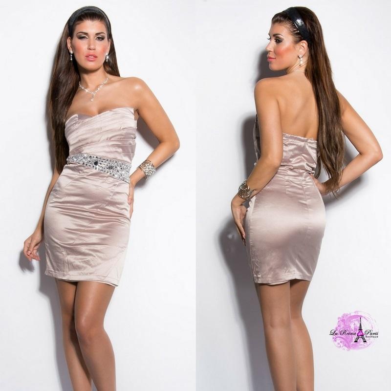 Vestido cóctel low cost elegante