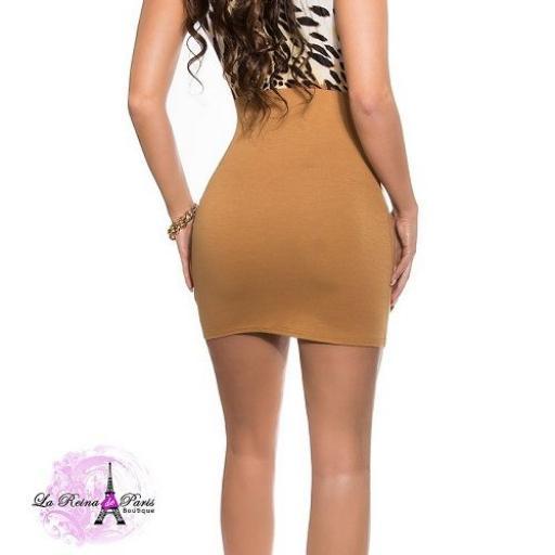 Vestido corto entallado low cost [2]