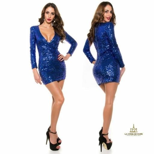 Vestido corto de fiesta electric        [2]