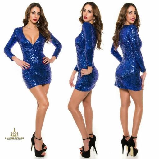 Vestido corto de fiesta electric        [3]