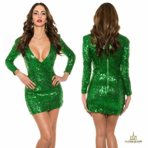 Vestido corto vestida para brillar