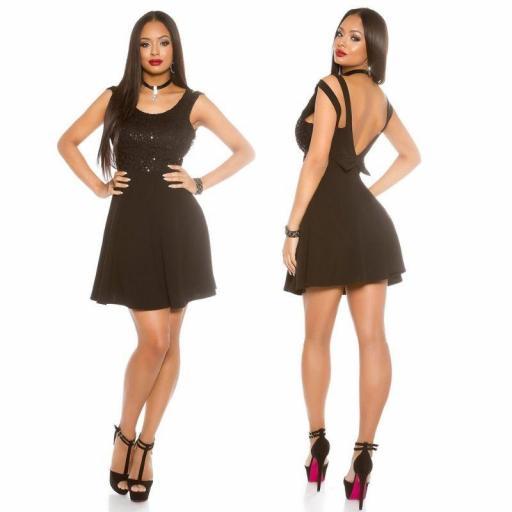 Vestido negro de fiesta Solci