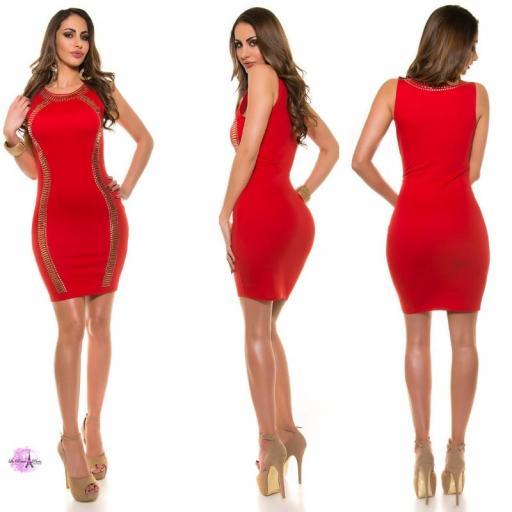 Vestido de fiesta rojo LD [0]
