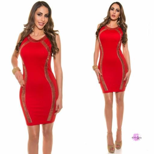Vestido de fiesta rojo LD [2]
