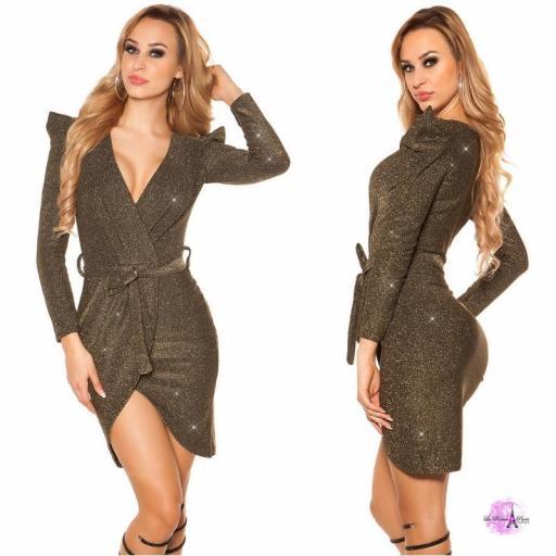 Vestido de fiesta lurex oro [3]