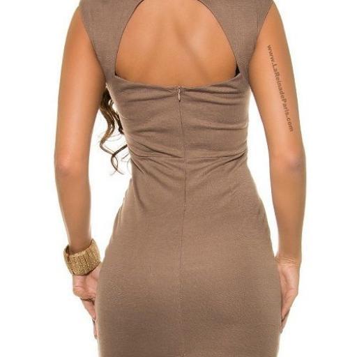 Vestido corto de encaje entallado  [2]