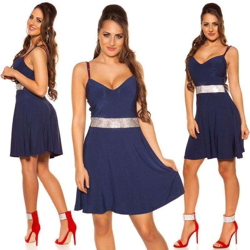 Vestido azul con pedrería Verona