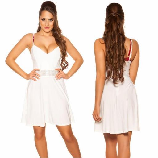 Vestido blanco con pedrería Verona [1]