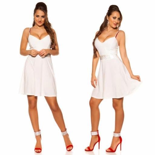 Vestido blanco con pedrería Verona [2]