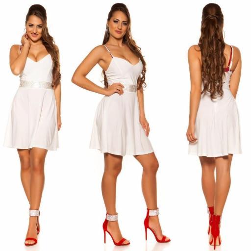 Vestido blanco con pedrería Verona [3]