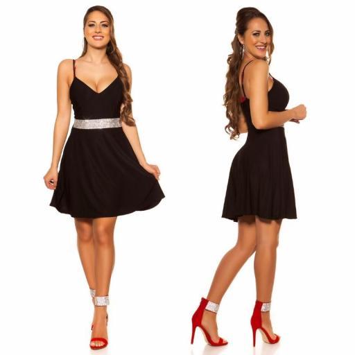 Vestido negro con pedrería Verona [2]