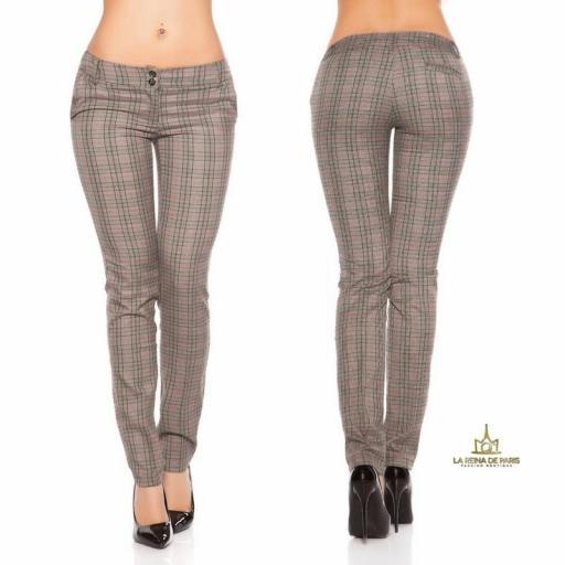 Pantalones rectos tartán atractivos [1]