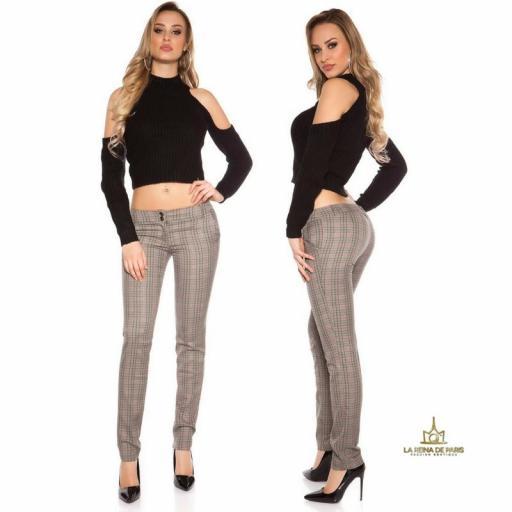 Pantalones rectos tartán atractivos [3]