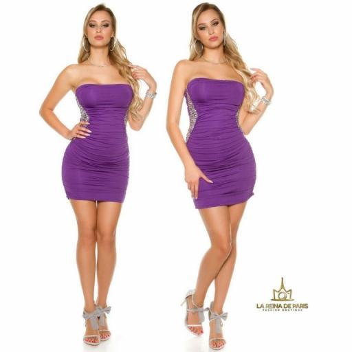 Mini vestido púrpura con lentejuelas  [3]