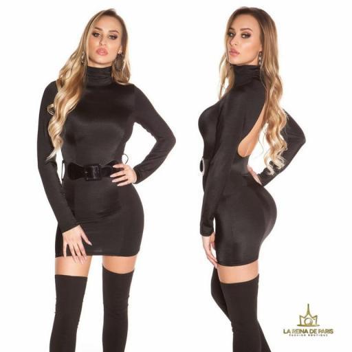 Vestido sin espalda cinturón incluido  [1]