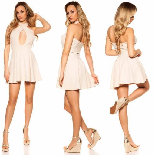Mini vestido suelto y divino beige [3]