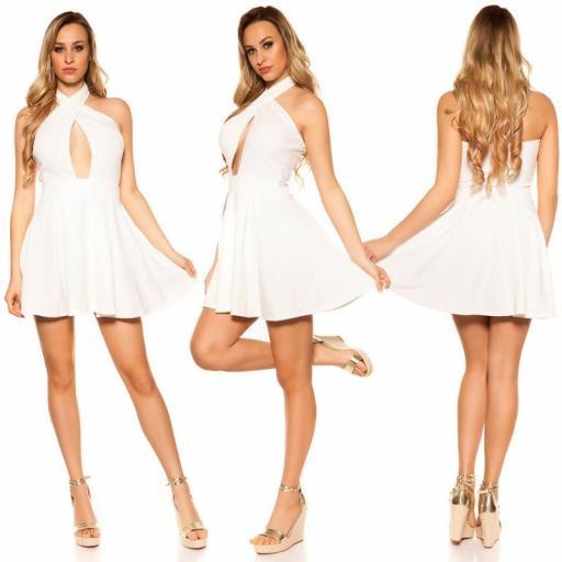 Mini vestido suelto y divino blanco