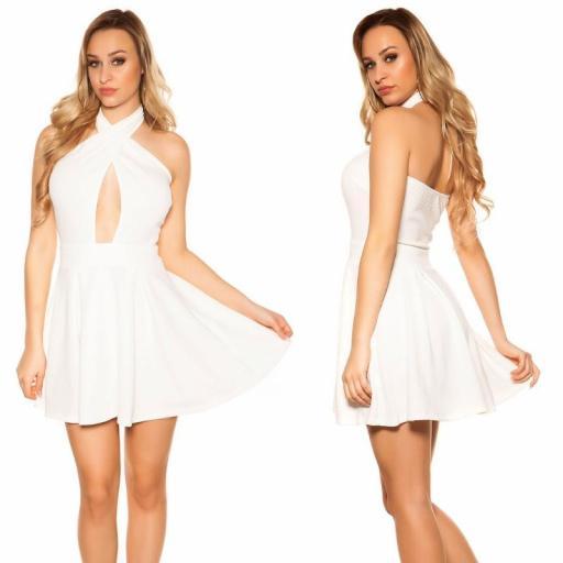 Mini vestido suelto y divino blanco [3]