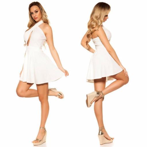 Mini vestido suelto y divino blanco [2]