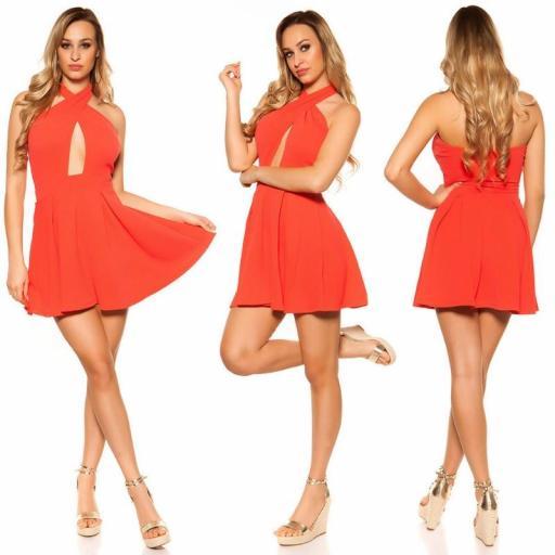 Mini vestido suelto y divino coral