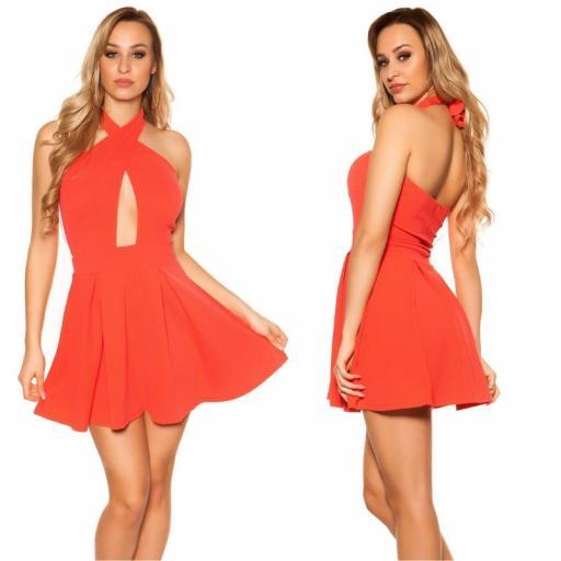 Mini vestido suelto y divino coral [1]