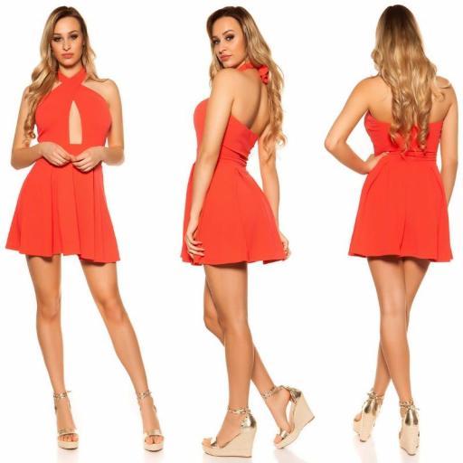 Mini vestido suelto y divino coral [3]