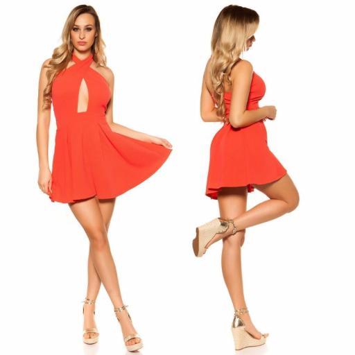 Mini vestido suelto y divino coral [2]