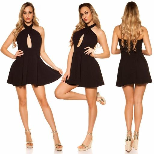 Mini vestido suelto y divino negro