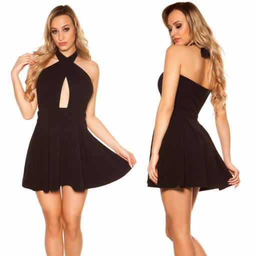 Mini vestido suelto y divino negro [3]