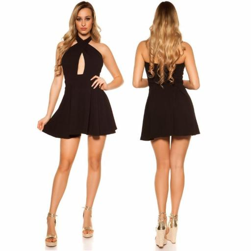 Mini vestido suelto y divino negro [1]