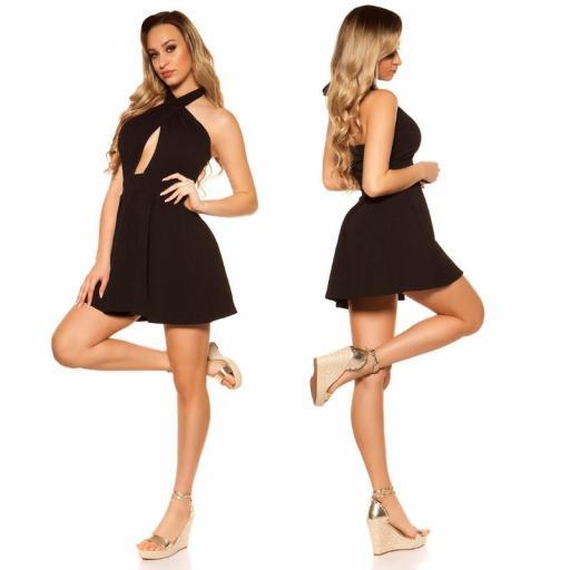 Mini vestido suelto y divino negro [2]
