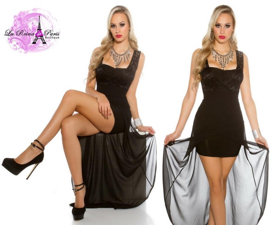 Vestido de fiesta con encaje atractivo