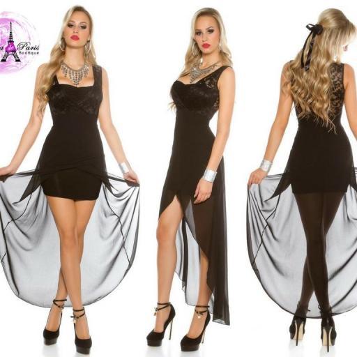 Vestido de fiesta con encaje atractivo [1]