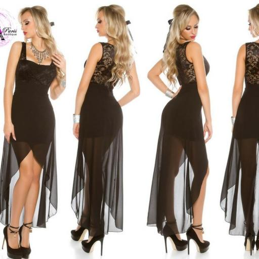 Vestido de fiesta con encaje atractivo [2]
