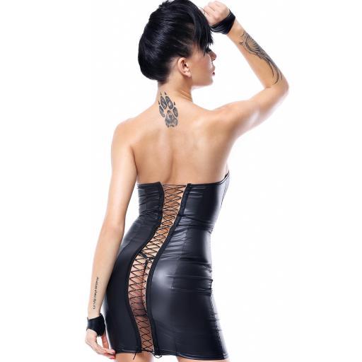 Mini vestido negro PVC brillante [1]