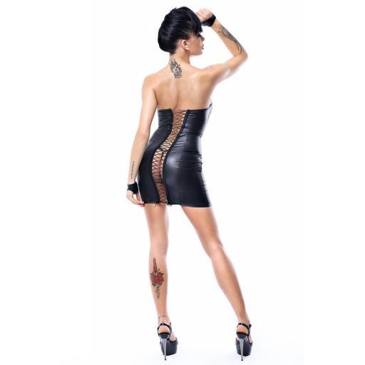 Mini vestido negro PVC brillante [2]