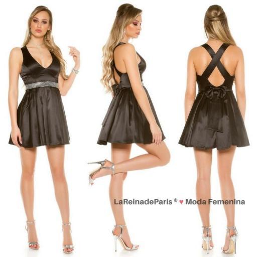 Vestido negro de noche brillante  [2]