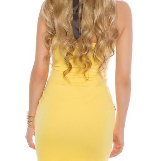 Vestido amarillo con aplicaciones  [1]