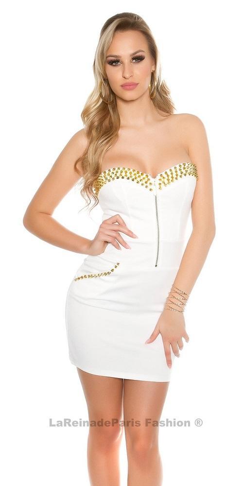 Vestido blanco con aplicaciones