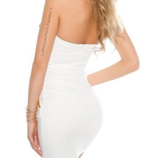 Vestido blanco con aplicaciones  [2]