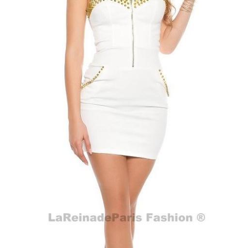 Vestido blanco con aplicaciones  [3]