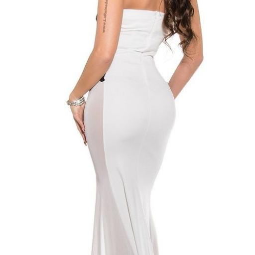 Vestido largo blanco sensual diseño [2]