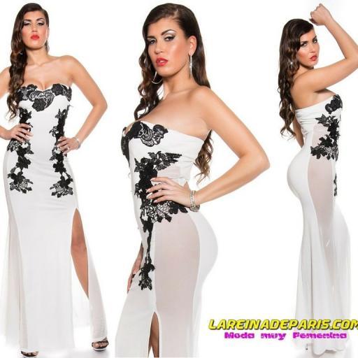 Vestido largo blanco sensual diseño [3]