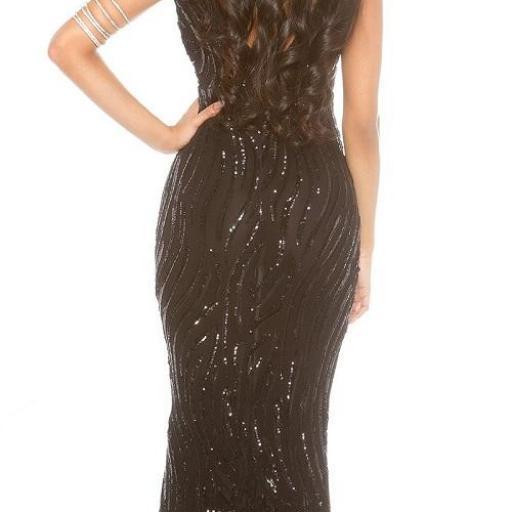 Vestido de gala negro brillante [2]