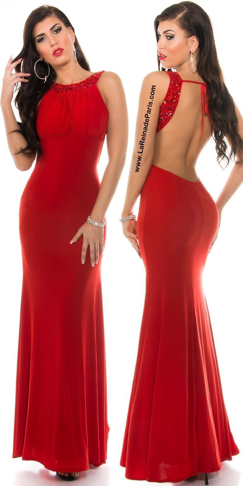 Vestido largo Grettel rojo