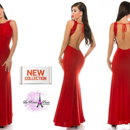 Vestido largo Grettel rojo [2]