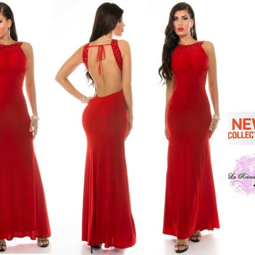 Vestido largo Grettel rojo [3]
