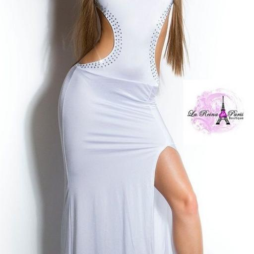 Vestido largo de espalda escotada [1]