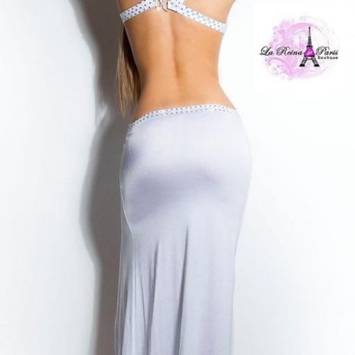 Vestido largo de espalda escotada [2]